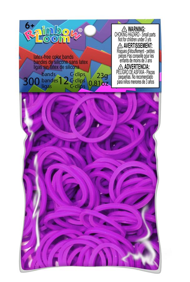 Buy Neon Purple Bands For Rainbow Loom Australia New