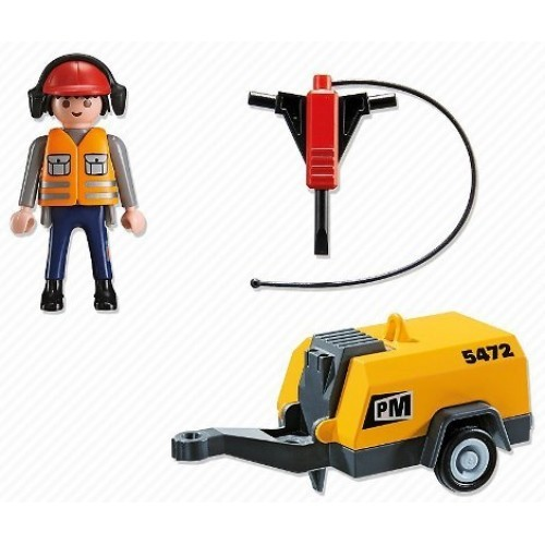 Buy Playmobil Construction Worker Jack Hammer 5472