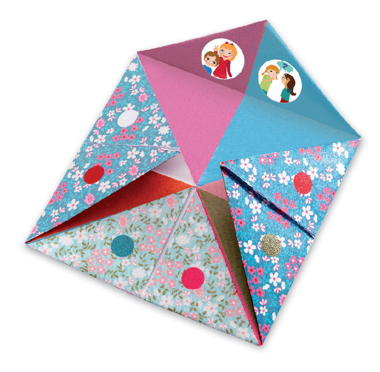 how to make a fortune teller paper craft