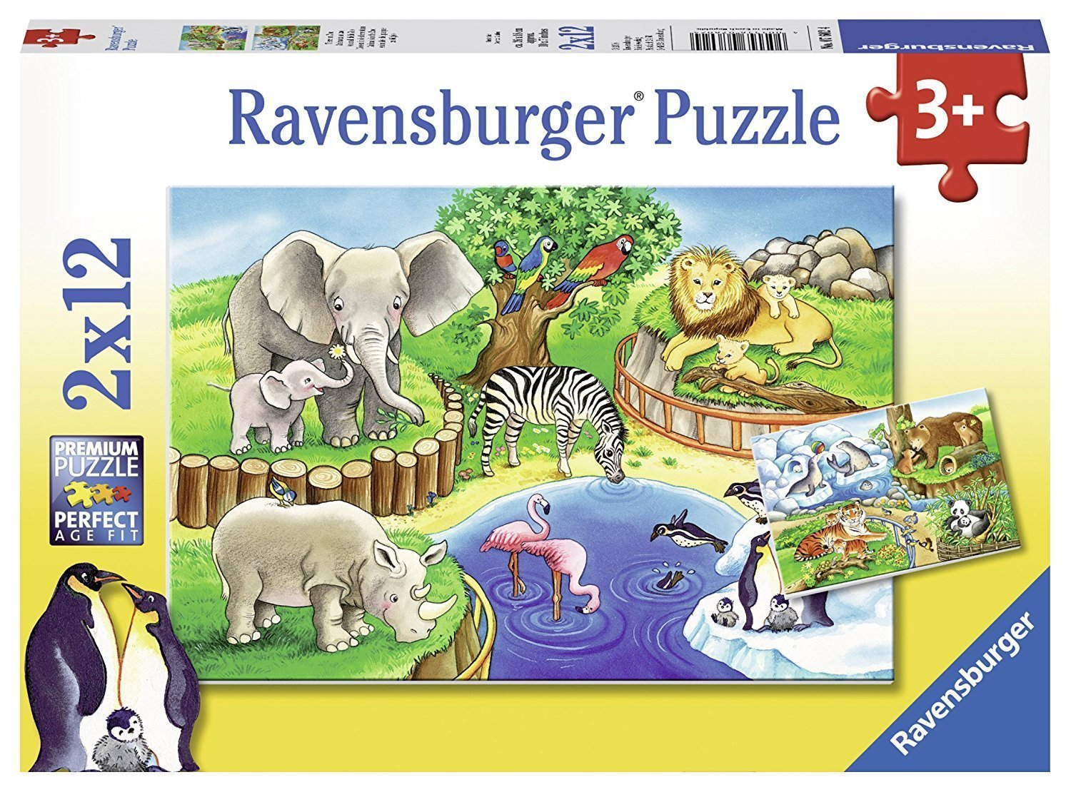 ravensburger animals in the zoo 12pc jigsaw puzzle. Black Bedroom Furniture Sets. Home Design Ideas