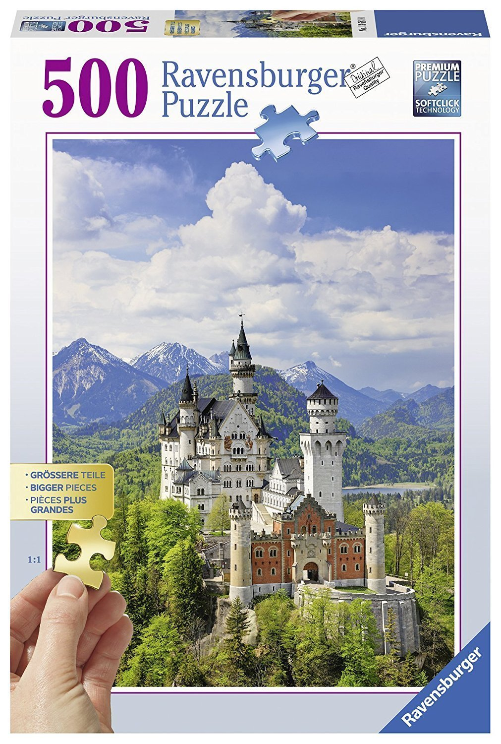 Ravensburger Neuschwanstein Castle Larger Pieces 500pc