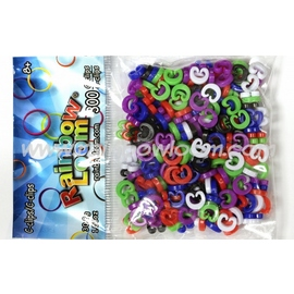 Rainbow Loom Coloured C-Clips - Large