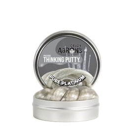 Crazy Aarons Thinking Putty|Pure Platinum - Precious Metal