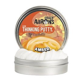 Crazy Aarons Thinking Putty|Amber - Glow In The Dark Mini Tin