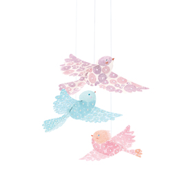 Djeco Glitter Birds Hanging Mobile