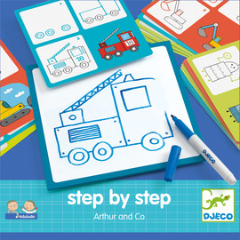 Djeco Eduludo Step By Step Arthur & Co - Learn To Draw Set