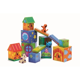 Djeco Cubanimo Animals Building Block Set