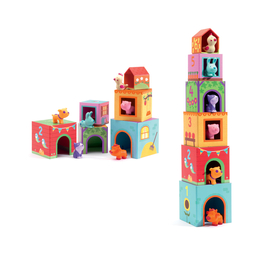 Djeco Topanifarm Stacking Cubes & Animal Figurines