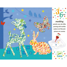 Djeco Marbling Colourful Parade Craft Activity