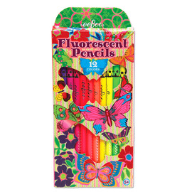 eeBoo Fluorescent Colouring Pencils - Butterfly 12 Pack