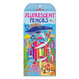 eeBoo Fluorescent Colouring Pencils - In The Sea 12 Pack