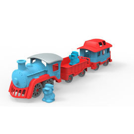 Green Toys Train - Blue|6 Piece Set