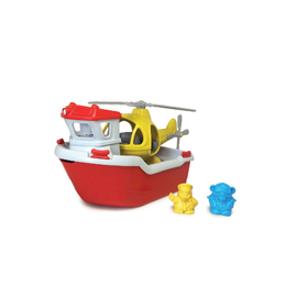 Green Toys - Rescue Boat & Helicopter Eco Toy