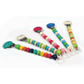 Hess Spielzeug Wooden Pacifier Holder - Assorted Colours