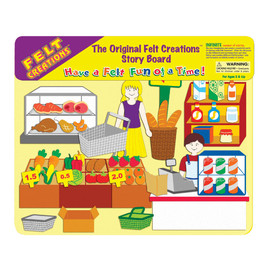 Felt Creations - Supermarket Felt Story Board
