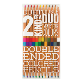 Ooly 2 of A Kind Double-Ended Pencils - 12 Pack (24 Colours)