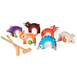 Janod Forest Animals Croquet Wooden Toy