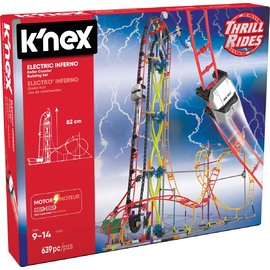 K'NEX Thrill Rides | Electric Inferno Roller Coaster Building Set 639pc