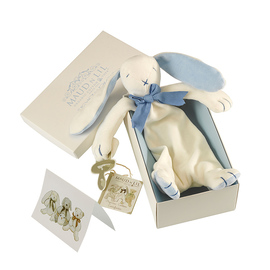 Maud N Lil Organic Cotton Baby Comforter - Oscar The Bunny (Gift Boxed)