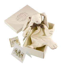 Maud N Lil Organic Cotton Baby Comforter - Ears The Bunny (Gift Boxed)