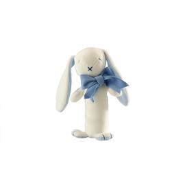 Maud N Lil Organic Cotton Baby Stick Rattle - Oscar The Bunny