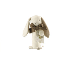 Maud N Lil Organic Cotton Baby Stick Rattle - Ears The Bunny