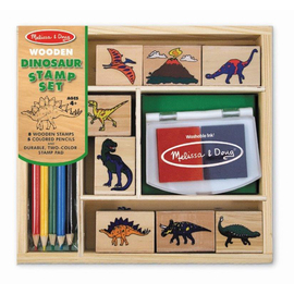 Melissa & Doug - Dinosaur Rubber Stamp Set