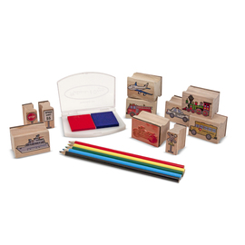 Melissa & Doug - Vehicle Rubber Stamp Set