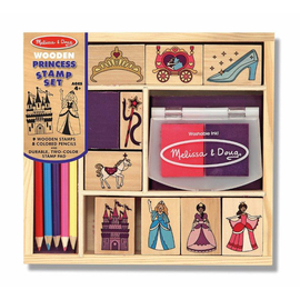 Melissa & Doug - Wooden Princess Rubber Stamp Set