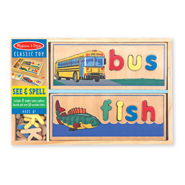 Melissa & Doug See & Spell Wooden Spelling Puzzle