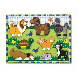 Melissa & Doug - Pets Wooden Chunky Puzzle 8pce