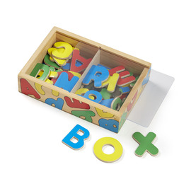 Melissa & Doug - Wooden Alphabet Magnets 52 Piece Set