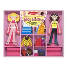 Melissa & Doug - Abby & Emma Magnetic Dress-Up