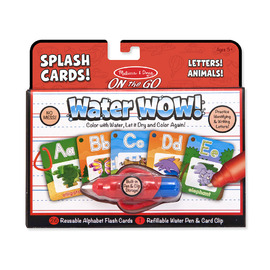 Melissa & Doug On The Go Water WOW! Splash Cards Letters & Animals