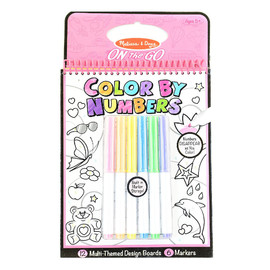 Melissa & Doug - On The Go - Color by Numbers Book -Pink