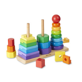 Melissa & Doug - Geometric Stacker Wooden Toy