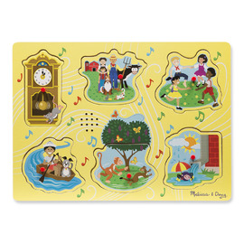 Melissa & Doug - Sing-Along Nursery Rhymes Sound Puzzle 6pc