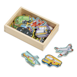Melissa & Doug - Wooden Vehicle Magnets 20 Piece Set