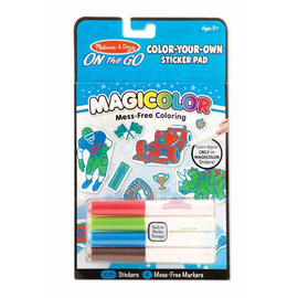Melissa & Doug - On The Go -Magicolor -Sticker Pad -Blue
