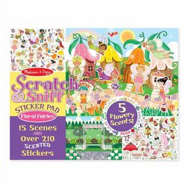 Melissa & Doug - Scratch & Sniff Sticker Activity Pad - Floral Fairies