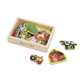Melissa & Doug - Wooden Farm Magnets 20 Piece Set