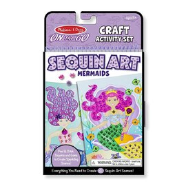 Melissa & Doug - On The Go Sequin Art Mermaids Craft Activity