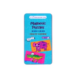 The Purple Cow Magnetic Puzzles Travel Activity