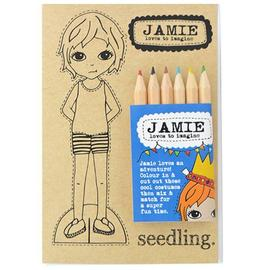 Seedling - Jamie Paper Dolls Colour In Set