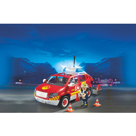 Playmobil - Fire Chief´s Car with Lights and Sound