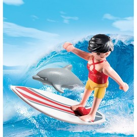 Playmobil Special Plus Lifeguard Surfer with Board & Dolphin