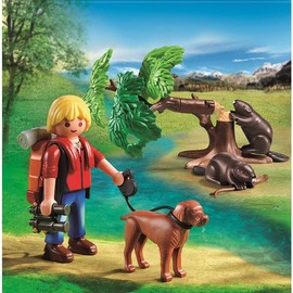 Playmobil Wild Life Beavers with Backpacker