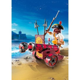 Playmobil - Red Interactive Cannon with Pirate