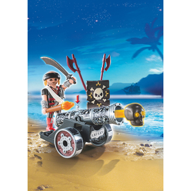 Playmobil - Black Interactive Cannon with Raider