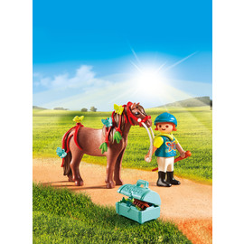 Playmobil Country - Groomer with Butterfly Pony